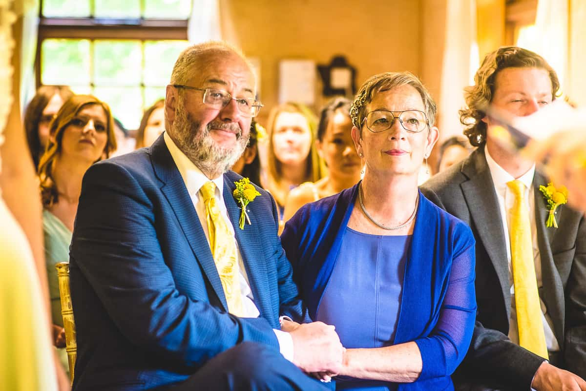 Proud parents at a Wedding