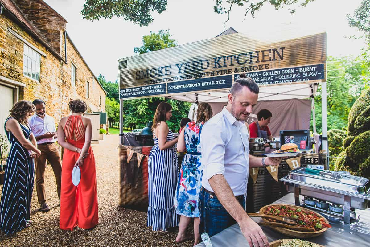 Smoke Yard Kitchen outside caterers for relaxed and informal weddings