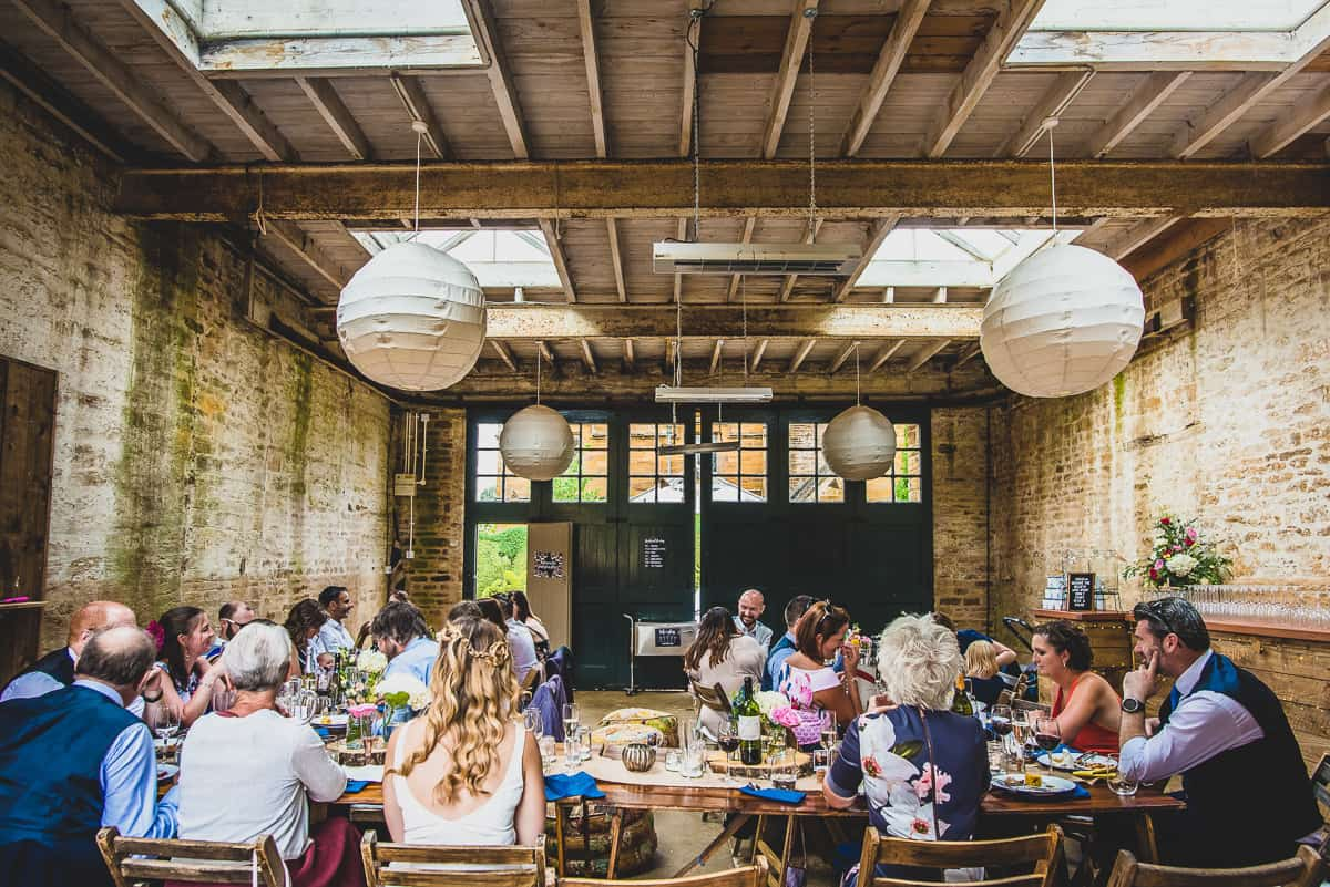 A very relaxed wedding reception in Northamptonshire
