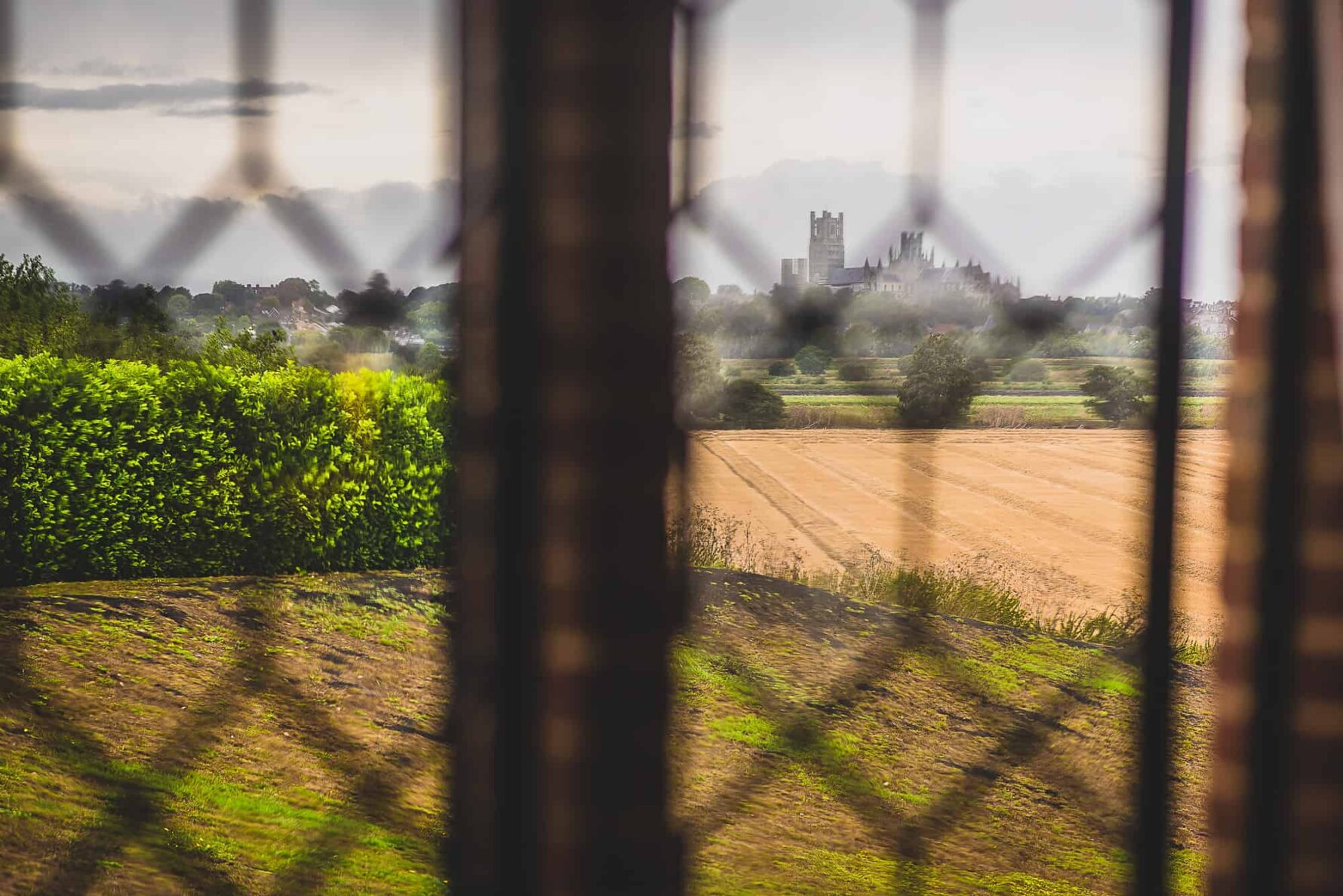 View to Ely Cathedral from the bridal suit at The Old Hall, Ely