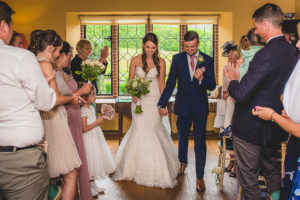 Just married at The Old Hall in Ely