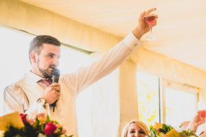 Groom's Wedding speech at The Old Hall in Ely