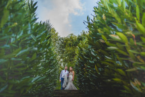 Bride and Groom at The Old Hall in Ely