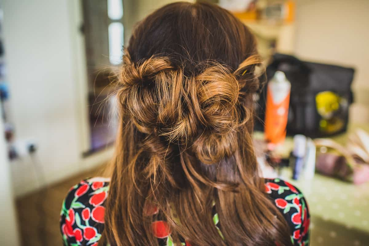 Camilla's hair before her daughter's Christening and her wedding ceremony