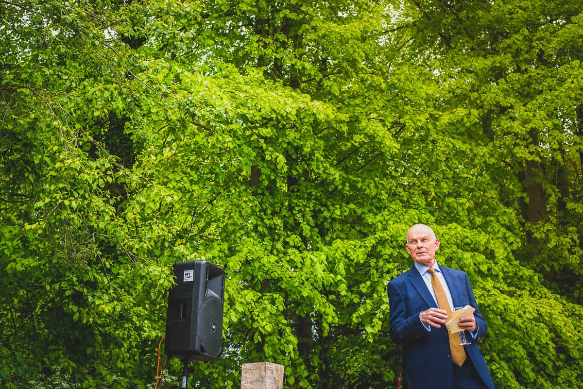 Father of the bride speech after her surprise wedding in Suffolk.