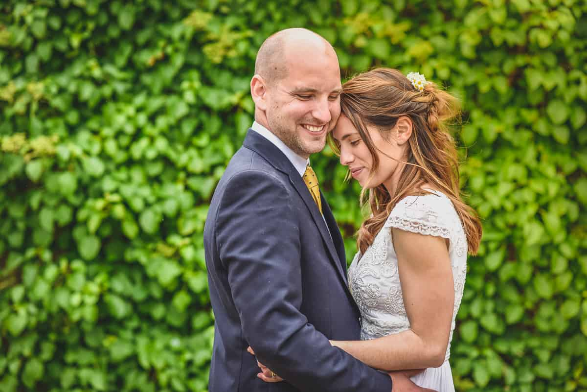 Happy couple Andrew & Camilla after their surprise wedding in Suffolk