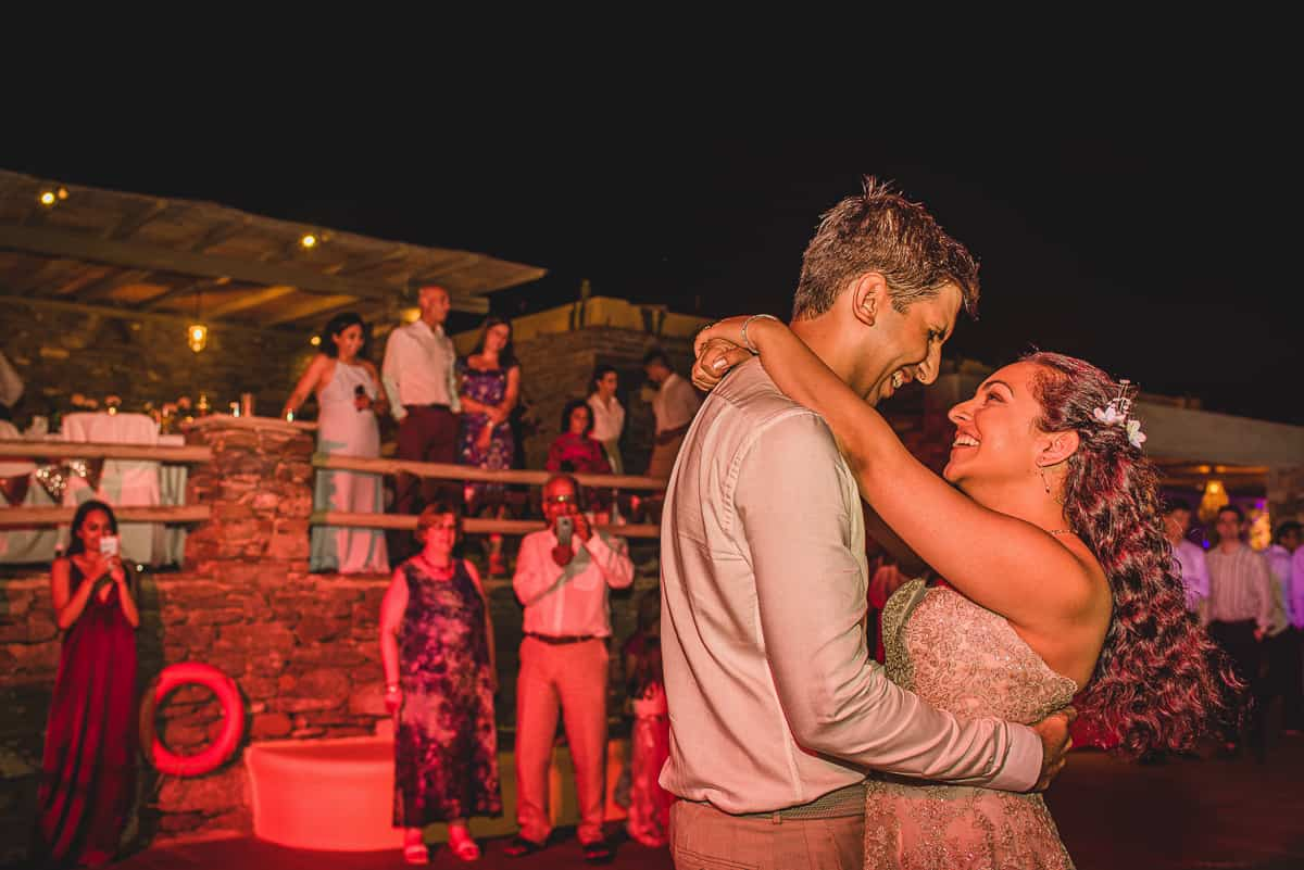 Bride and Groom first dance at Diles and Rinies Wedding in Tinos.