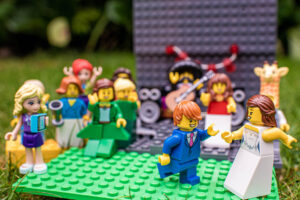 Lego Brides and Groom's First dance at lego wedding