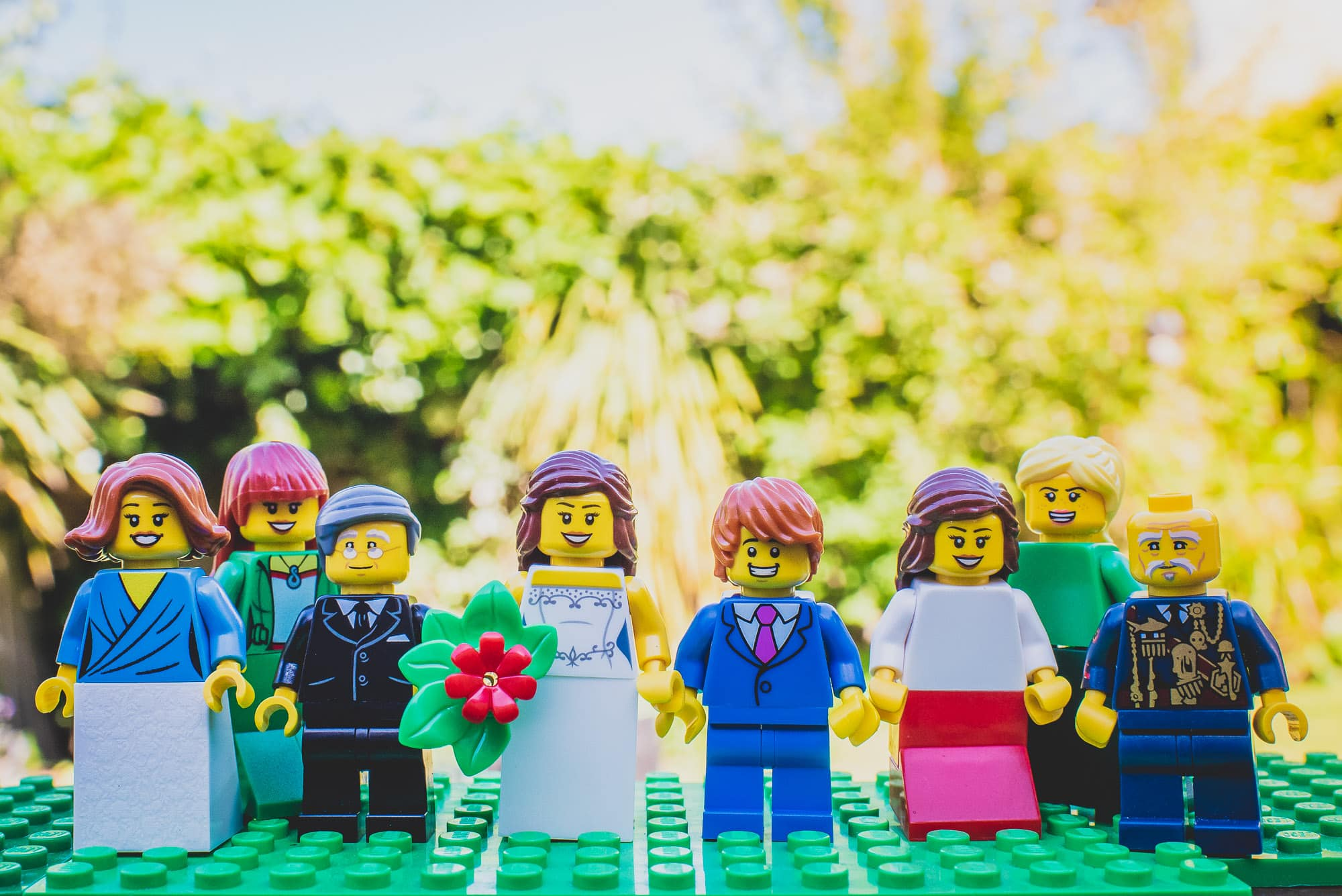 Lego Family Group Wedding Photo