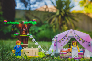 Lego festival wedding with Glamping