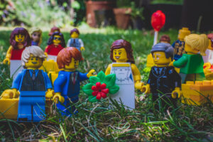 Lego Bride and her Father greeted by the Groom