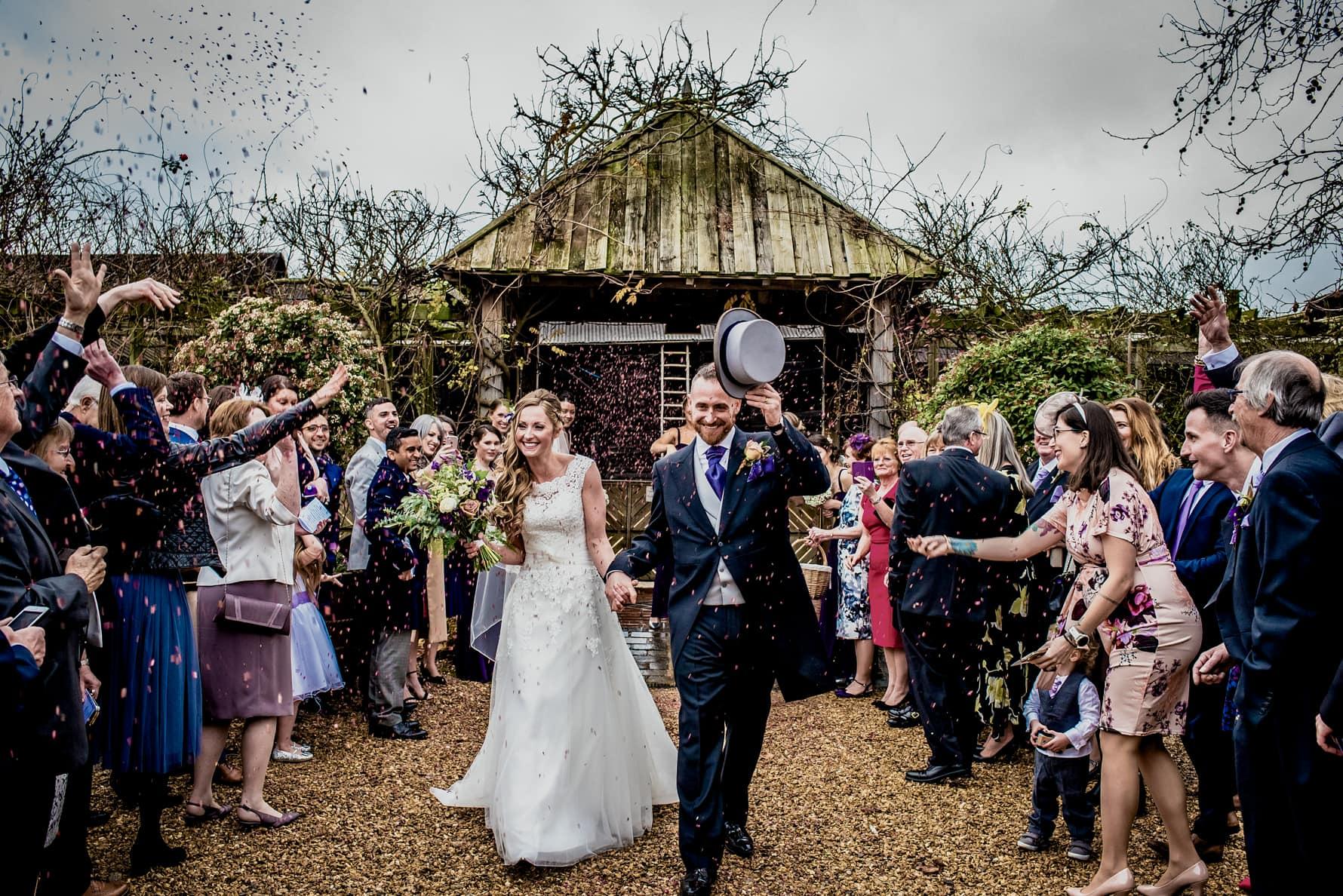 Winter wedding at South Farm in Cambridge