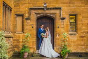 Bride & Groom at Trinity Hall College in Cambridge