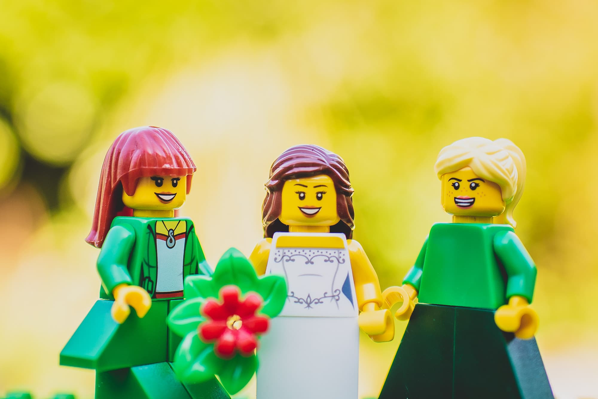 Lego Bride and her Bridesmaids